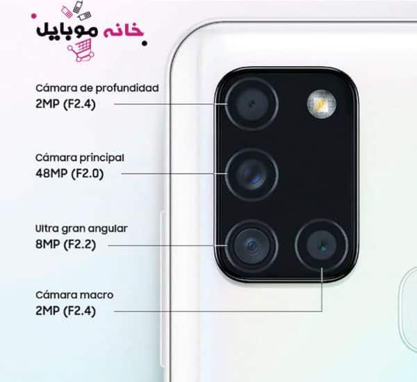 دوربین سامسونگ a21s